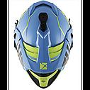 Шлем кроссовый с очками CKX HELM TITAN ORI DL AVALANCHE GR/BL, фото 8