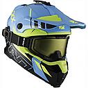 Шлем кроссовый с очками CKX HELM TITAN ORI DL AVALANCHE GR/BL, фото 3