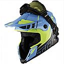Шлем кроссовый с очками CKX HELM TITAN ORI DL AVALANCHE GR/BL, фото 5