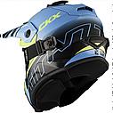 Шлем кроссовый с очками CKX HELM TITAN ORI DL AVALANCHE GR/BL, фото 6