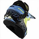 Шлем кроссовый с очками CKX HELM TITAN ORI DL AVALANCHE GR/BL, фото 7