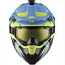 Шлем кроссовый с очками CKX HELM TITAN ORI DL AVALANCHE GR/BL, фото 2
