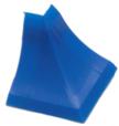 Бортик столешницы, 34×24×3000 мм, F3M:  Угол наружный,  Синий