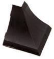 Бортик столешницы, 34×24×3000 мм, F3M:  Угол наружный,  Чёрный (55)