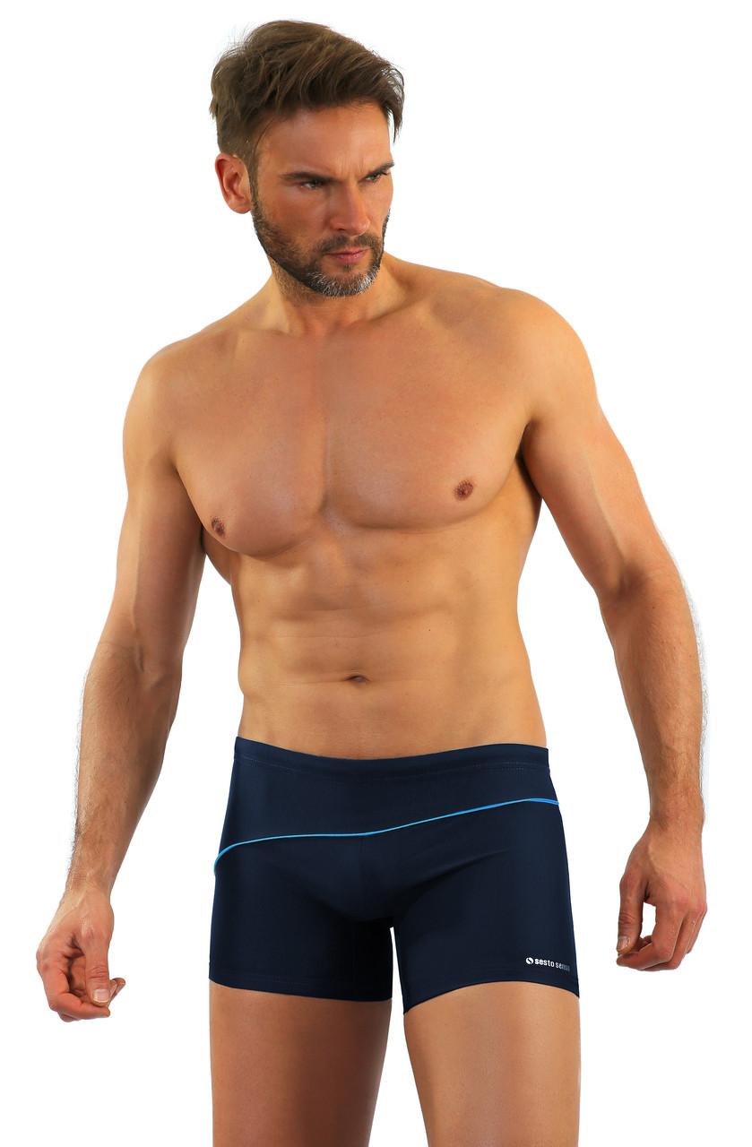 Мужские плавки Sesto Senso 314 L Темно-синие (sns0006)