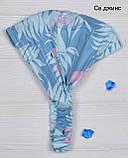 306- Летняя Бандана Фламинго .р.54-56 ( от 7 лет), фото 3
