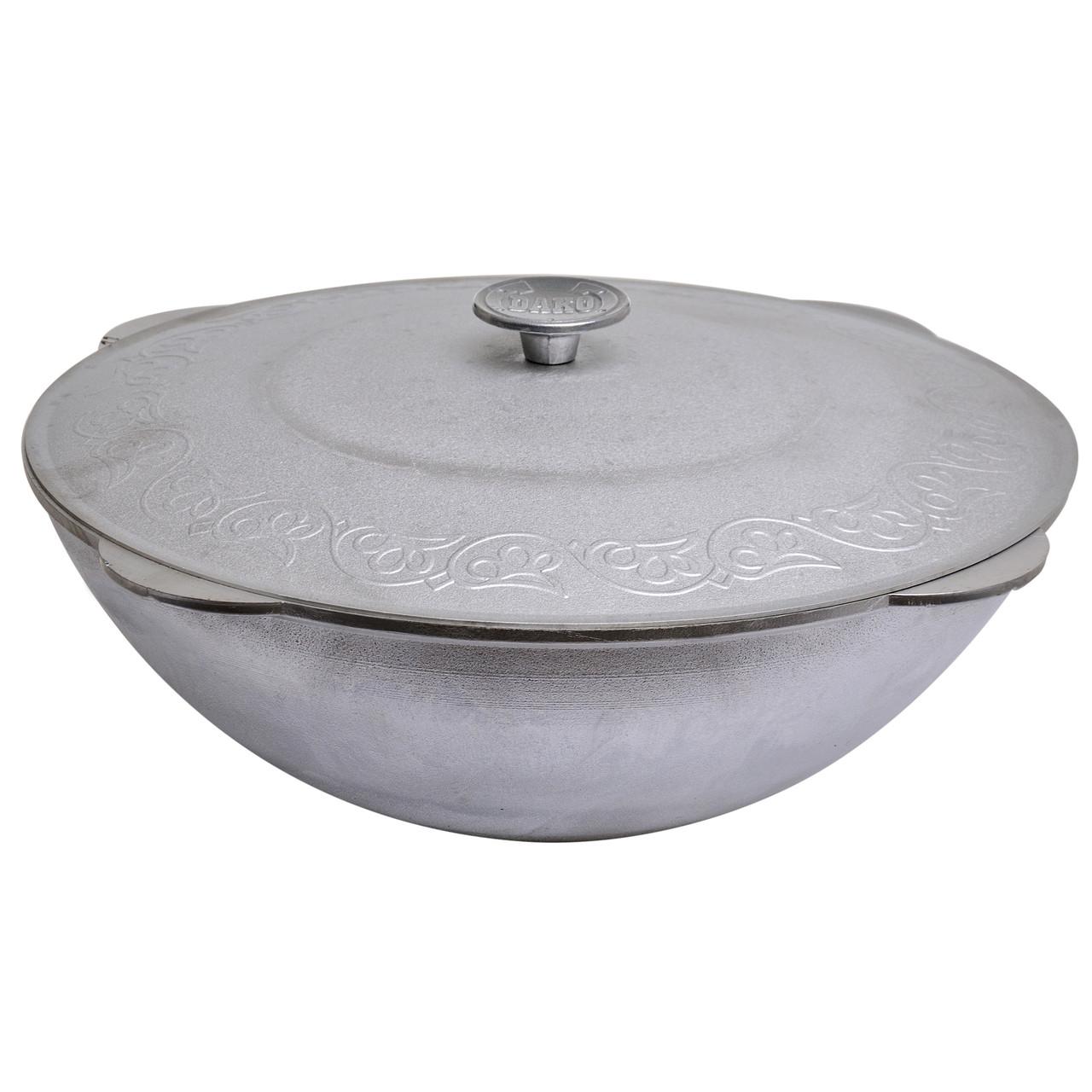 Казан татарский алюминиевый скрышкой на 40 литров. (Без дужки)