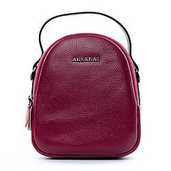Женская кожаная сумка-клатч Alex Rai небольшого размера через плечо марсаловая