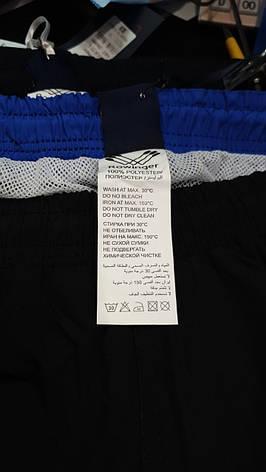 Мужские шорты большой размер Rowinger из плащевки для купания Темно-синие с красной резинкой, фото 2