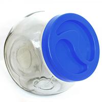 Банка для сыпучих продуктов 1200 мл - голубая крышка Wallibuc