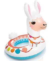 Детский надувной круг для плавания Intex 58221   Плавательный круг для детей Лама