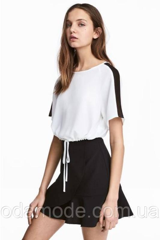 Женский топ короткий  H&M белый