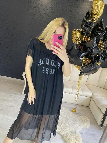 Легкое платье с фатином Флорида, 44-50