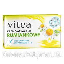Ромашковое крем-мыло с витамином С и Е VITEA Cream Soap, 100 гр