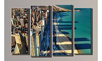 Модульная картина Чикаго 63х96 см (HAF-052)