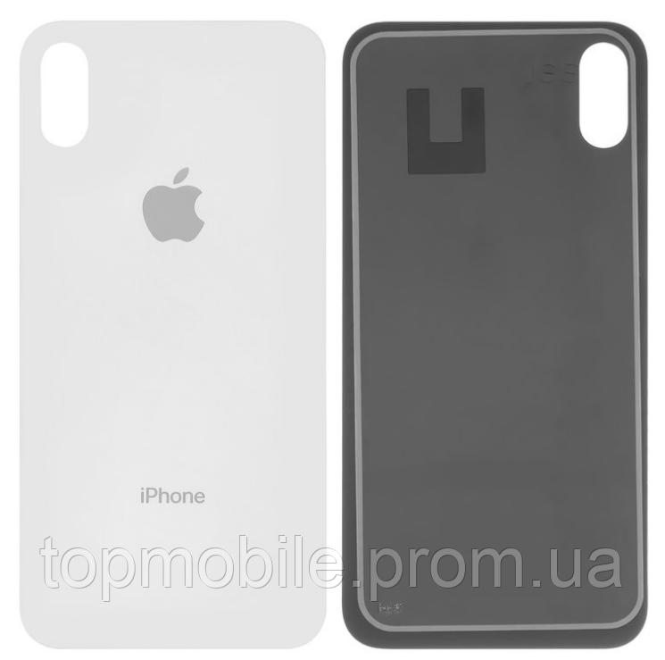 Задняя крышка для iPhone X, белая, оригинал (Китай)