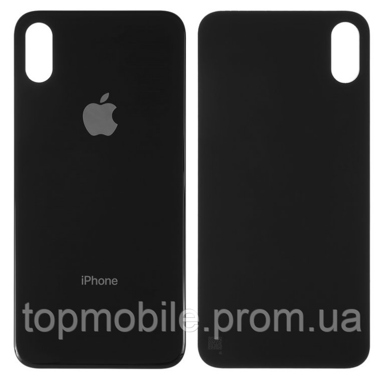 Задняя крышка для iPhone X, черная, копия