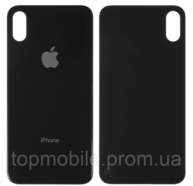 Задняя крышка для iPhone X, черная, копия высокого качества
