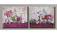Модульная картина Чайные розы 40х99 см (HAD-020)