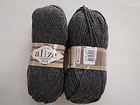 Пряжа для вязания Alize Лана голд плюс серый 182