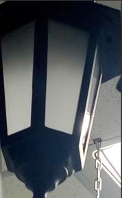 Світильник парковий Кантрі НС 06 60Вт (мат. скло чорн.)