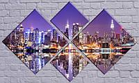Модульная картина Ночной город-7 98х157 см (HAF-163)