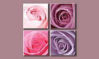 Модульная картина Стильные розы 103х103 см (HAF-087)