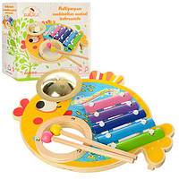 Детская деревянная музыкальная игрушка Ксилофон MD 0903