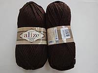 Пряжа для вязания Alize Лана голд плюс коричневый 26