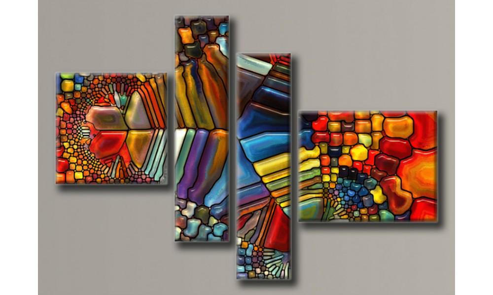 Модульная картина Мозаика 115,5х167 см (HAF-101)