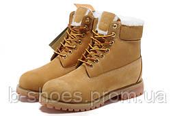 Ботинки женские  Timberland 6-inch Waterproof Boots Brown/Fur