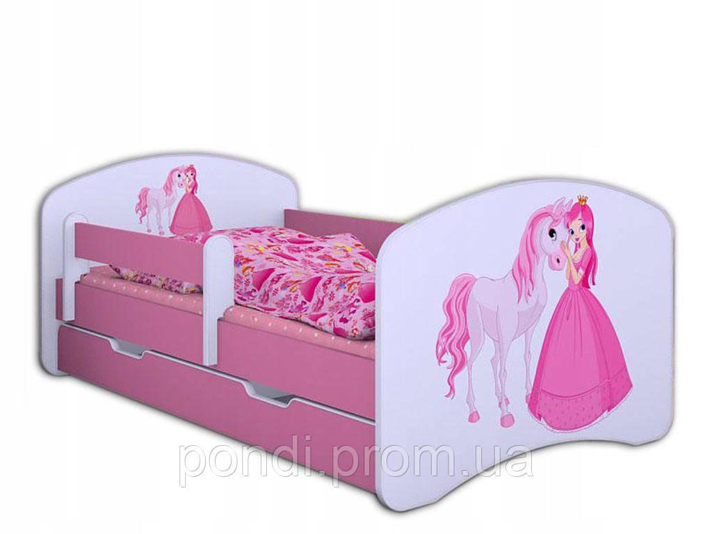Детская кровать Лаки с рисунком