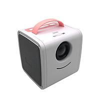 Детский мини проектор KIDS Q2 Бело-розовый 5533, КОД: 1706514