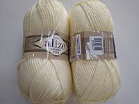 Пряжа для вязания Alize Лана голд плюс молочный 01