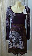 Платье женское модное вискоза бренд Desigual р.44 3599