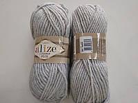 Пряжа для вязания Alize Лана голд плюс серый 684
