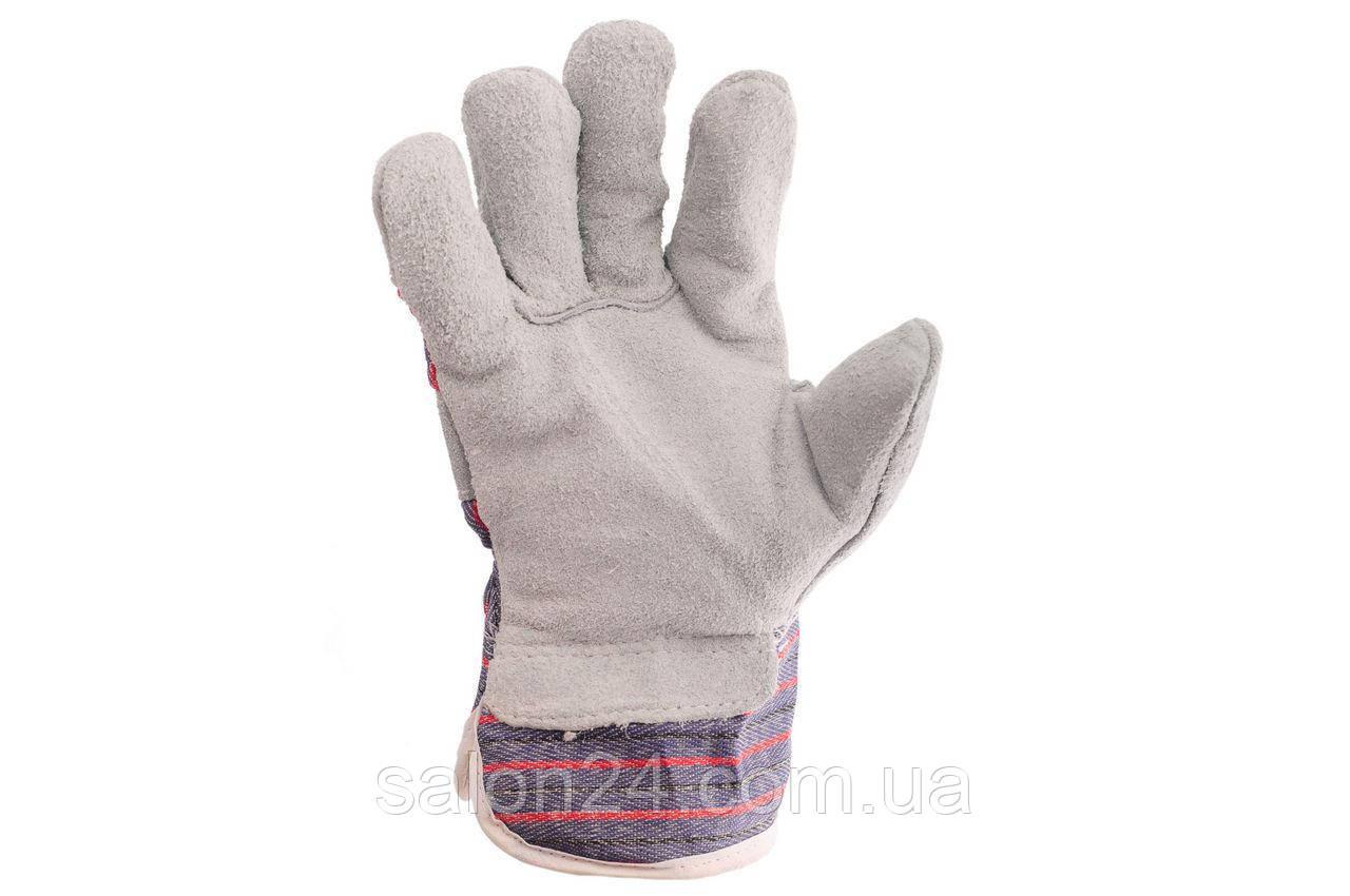 """Перчатки Intertool - замшевые комбинированные утепленные 27 см х 10,5"""""""