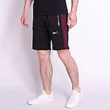 Чоловічі трикотажні шорти NIKE, кольору бордо., фото 4