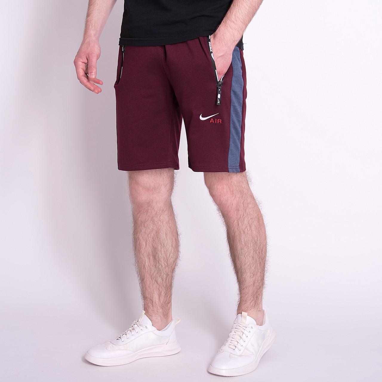 Чоловічі трикотажні шорти NIKE, кольору бордо.