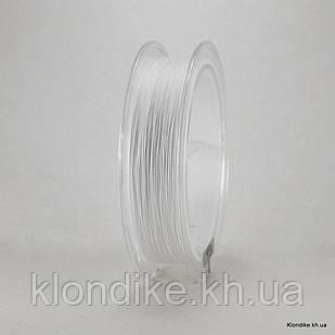 Шнур Нейлоновый, 0.2 мм, Цвет: Белый (100 метров)