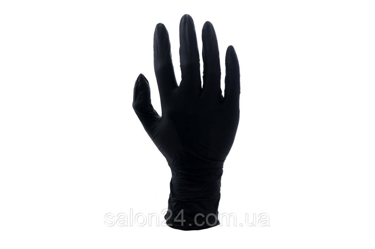 Рукавички PRC VitLux - нітрилові чорні S (100 шт)