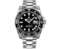 Годинник Rolex GMT Master II 40mm (ETA 2834-2) Silver/Black. Replica: AAA.
