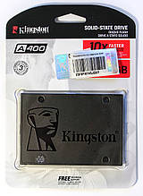 "НАКОПИЧУВАЧ SSD 2,5"" 120GB KINGSTON A400 SATA III/SATA II (SA400S37/120G), Гарантія 36 міс"