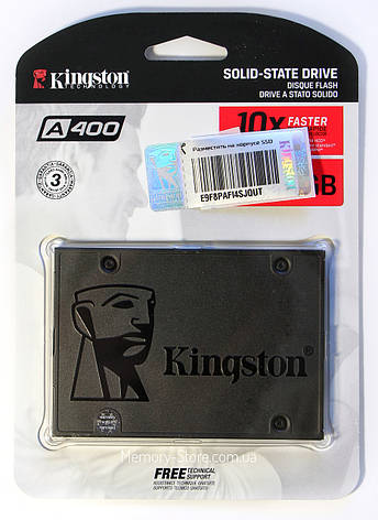 "НАКОПИТЕЛЬ SSD 2,5"" 120GB KINGSTON A400 SATA III/SATA II (SA400S37/120G), Гарантия 36 мес, фото 2"