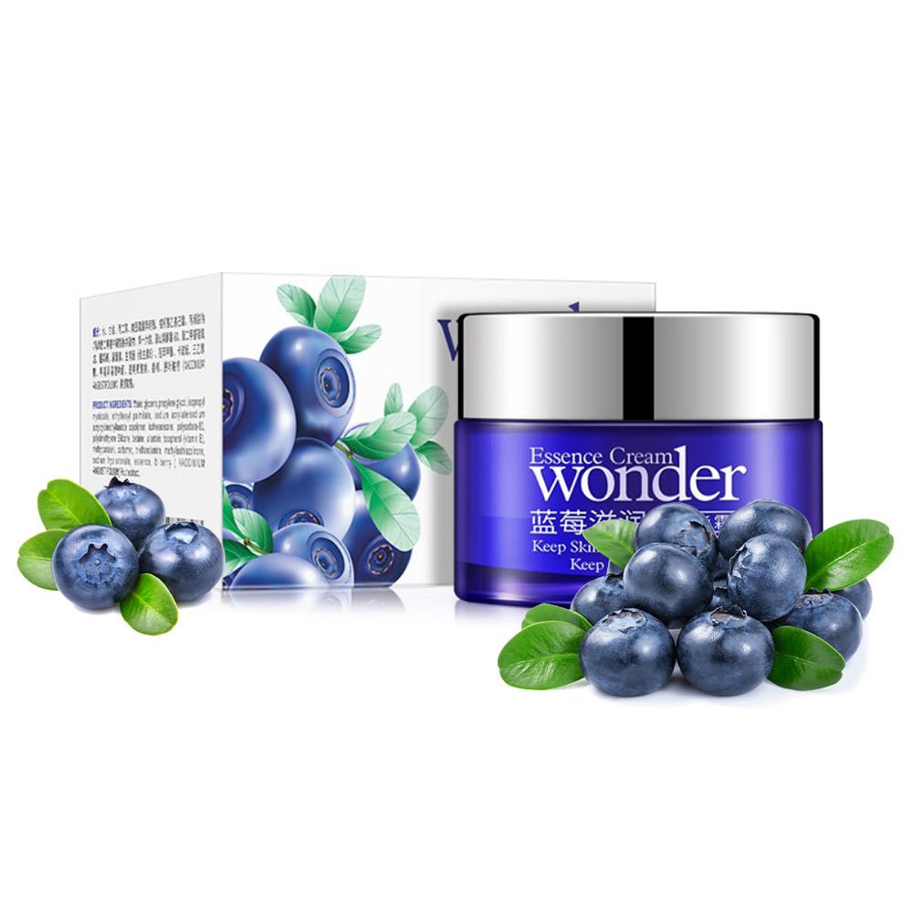 Крем для лица с экстрактом черники BIOAQUA Wonder Essence Cream 50 г. увлажняющий от сухости и шелушений