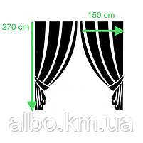 Шторы комбинированые с тюлью для спальни зала кухни, шторы и тюль в детскую комнату гостинную из жаккарда,, фото 4