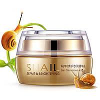 Крем для лица с муцином улитки BIOAQUA Snail Repair&Brithening 50 г питание увлажнение кожи