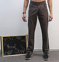 Джинсы мужские пыльно-коричневые классические 32, 34  Le Gutti Турция