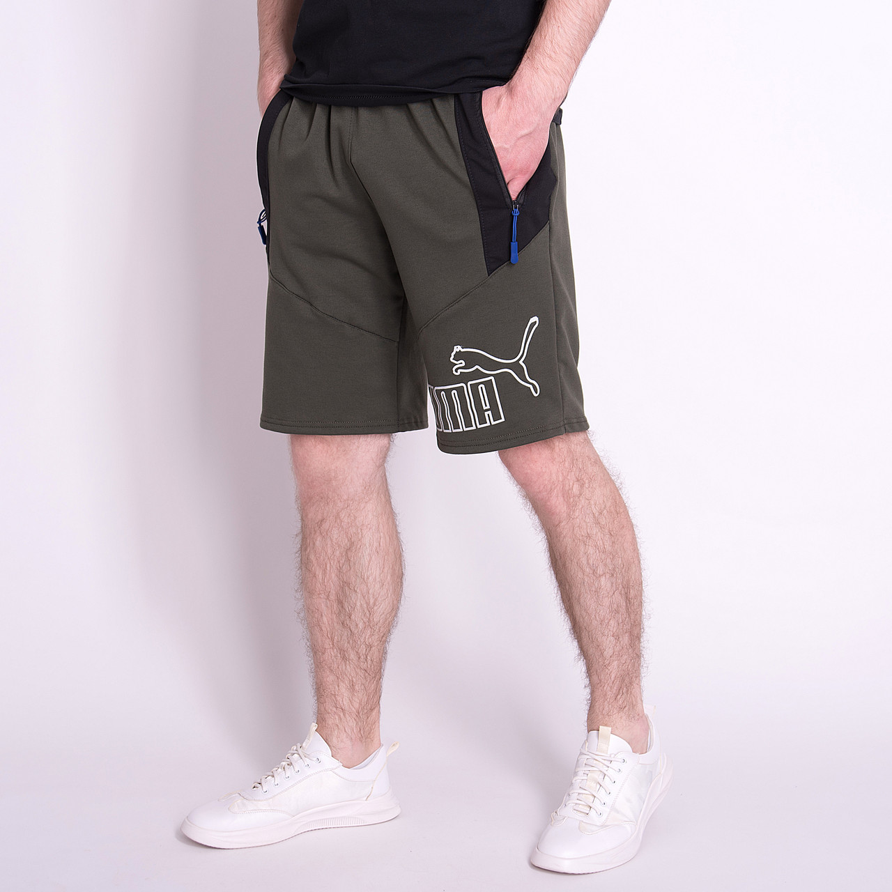 Чоловічі трикотажні шорти PUMA, кольору хакі