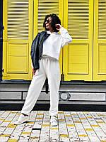 Женский летний спортивный костюм желтый черный молочный серый клевый трехнить петля 42-44 46-48